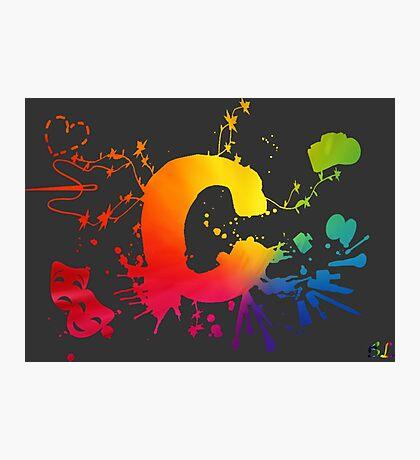 Cosplay Flag/symbol black Photographic Print