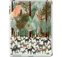 Woodland horses with owls and birds iPad Case/Skin