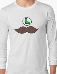 Luigi Moustache Long Sleeve T-Shirt