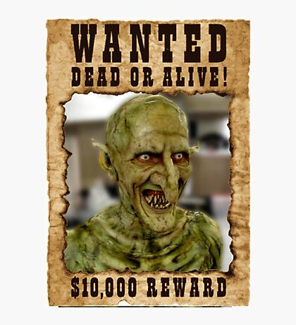 Buffy Gnarl Demon Wanted Photographic Print