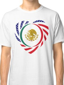 Mexican American Multinational Patriot Flag Series 2.0 Classic T-Shirt