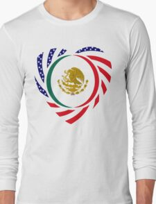 Mexican American Multinational Patriot Flag Series 2.0 Long Sleeve T-Shirt