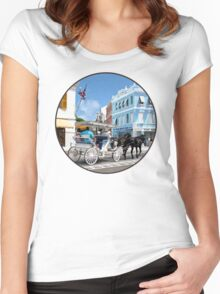 Hamilton Bermuda Carriage Ride Women's Fitted Scoop T-Shirt
