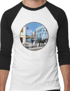 Hamilton Bermuda Carriage Ride Men's Baseball ¾ T-Shirt