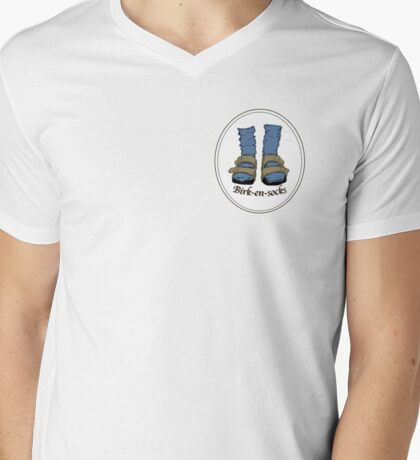 Birk-en-socks Mens V-Neck T-Shirt