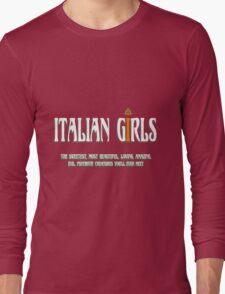 Italian - Italian Girls Long Sleeve T-Shirt