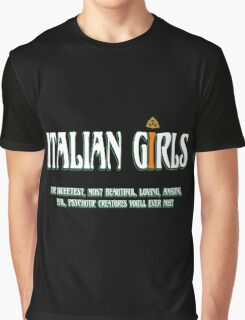 Italian - Italian Girls Graphic T-Shirt