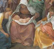 Detail of The Birth of the Virgin by Bridgeman Art Library