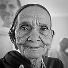 Old woman from Rajasthan India by Heather Buckley
