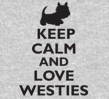 Keep Calm and Love Westies (black) Unisex T-Shirt