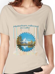 Matterhorn Mountain lake view Women's Relaxed Fit T-Shirt