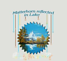Matterhorn Mountain lake view Unisex T-Shirt