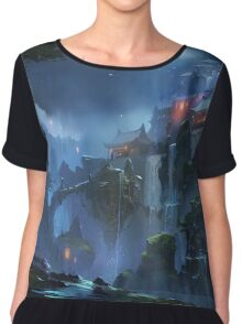 The Fortress Of The People Of The Moon Chiffon Top