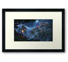 The Fortress Of The People Of The Moon Framed Print