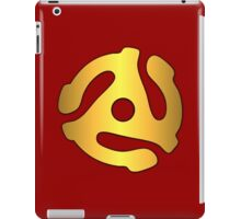 Gold record adapter iPad Case/Skin