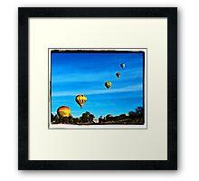 Balloons Rising Framed Print