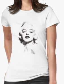 Marilyn Monroe portrait 02 Womens Fitted T-Shirt