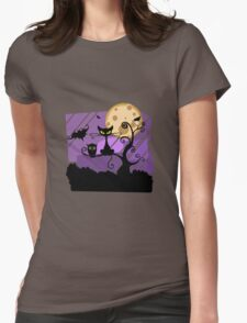 Animals of halloween Womens Fitted T-Shirt