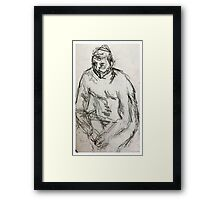 life drawing june Framed Print