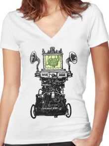 Uncle Irvin from The City of Lost Children Women's Fitted V-Neck T-Shirt