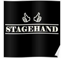 Stagehand white Poster
