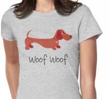 Woof Woof (Sausage dog) Womens Fitted T-Shirt