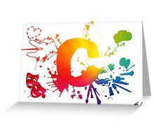 Cosplay Flag/Symbol white Greeting Card