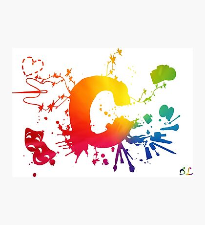 Cosplay Flag/Symbol white Photographic Print