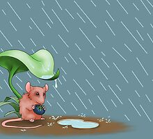 Mouse in the Rain by LionGeek