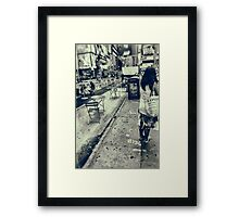 From London To New York Framed Print