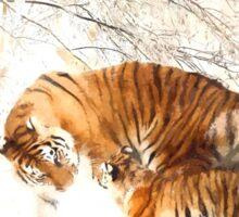 Tigers in the Snow Sticker