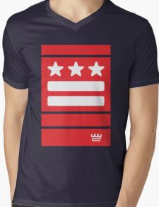 DC Represent (red) Mens V-Neck T-Shirt