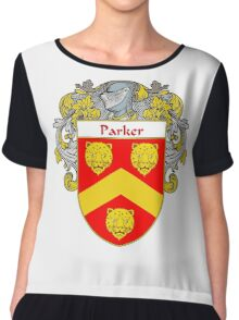 Parker Coat of Arms / Parker Family Crest Chiffon Top