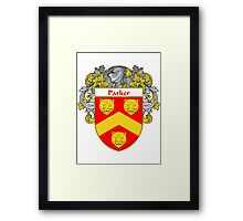 Parker Coat of Arms / Parker Family Crest Framed Print