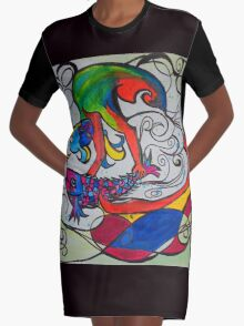 Jumping Fish Graphic T-Shirt Dress