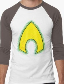 Superhero Spray Paint - Aquaman Men's Baseball ¾ T-Shirt