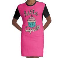 Hello, Cupcake! Graphic T-Shirt Dress