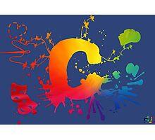 Cosplay Flag/symbol blue Photographic Print