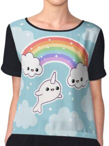 Flying Narwhal Chiffon Top