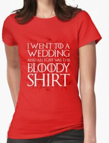Red Wedding Womens Fitted T-Shirt