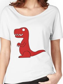 Dino Red Women's Relaxed Fit T-Shirt