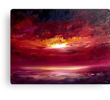 Sunset painting in Oil Canvas Print