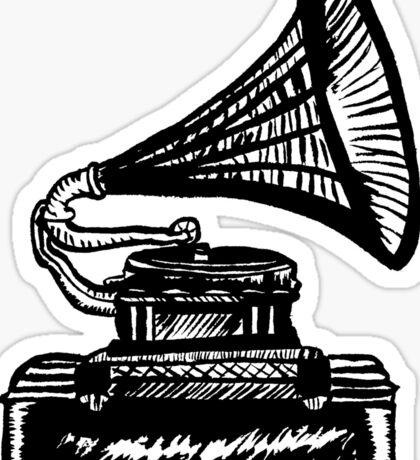 Snazzy Gramophone  Sticker