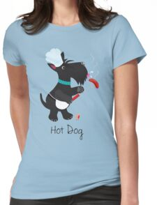 Scottie Dog, Hot Dog Womens Fitted T-Shirt