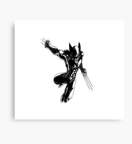 Wolverine badass Canvas Print