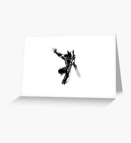 Wolverine badass Greeting Card