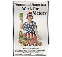 Women of America Work for Victory Poster Poster