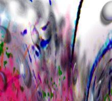Abstract Pink Swirls Sticker