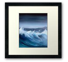 Seascape original oil painting Framed Print