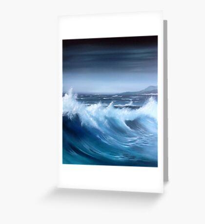 Seascape original oil painting Greeting Card